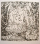 Charles M. Ware, THE CHESS PLAYERS, Etching and relief print