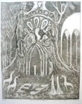 Charles M. Ware, FOREST ALTAR, Etching and aquatint