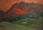 Bruce Klein  Fire Mountain acrylic on canvas